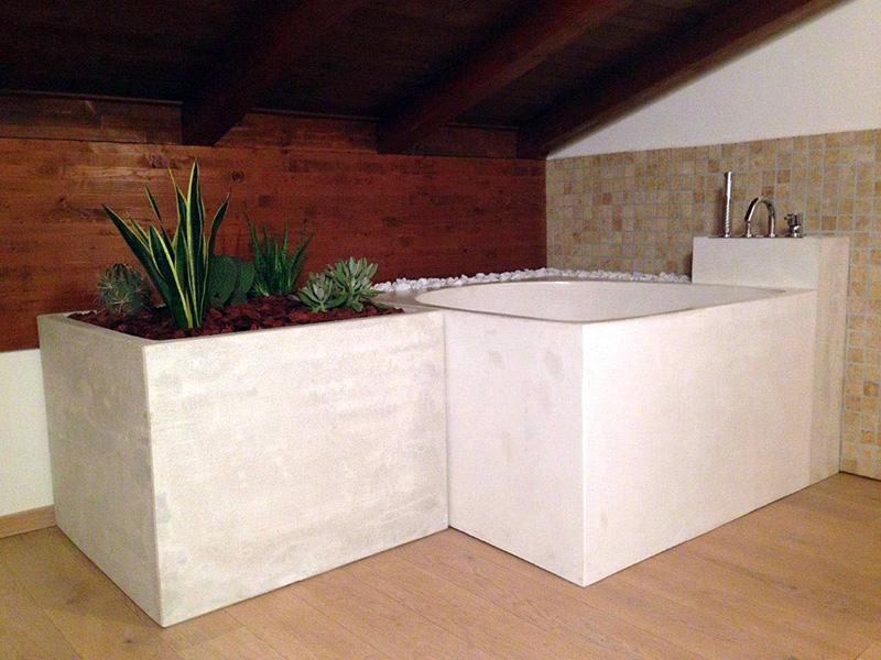 Vasche Da Bagno In Cemento: Foto e idee per bagni bagno con pavimento cementine dallas.